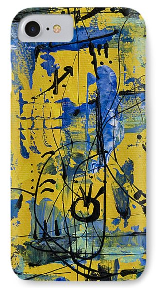 IPhone Case featuring the painting Divertimento No.12 by Alexandra Jordankova