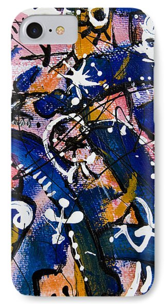 IPhone Case featuring the painting Divertimento No.16 by Alexandra Jordankova
