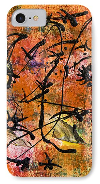 IPhone Case featuring the painting Divertimento No.17 by Alexandra Jordankova
