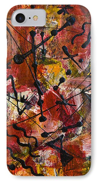 IPhone Case featuring the painting Divertimento No.18 by Alexandra Jordankova