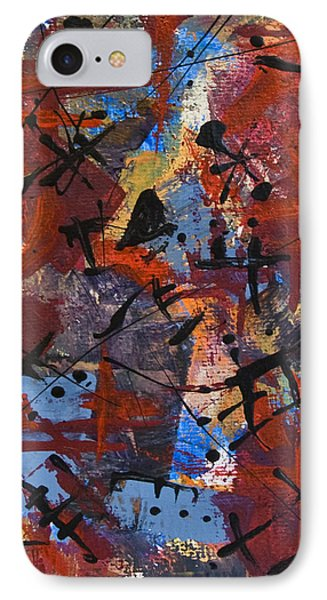 IPhone Case featuring the painting Divertimento No.19 by Alexandra Jordankova