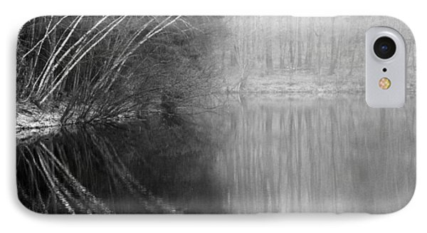Divided By Nature Bw Phone Case by Karol Livote