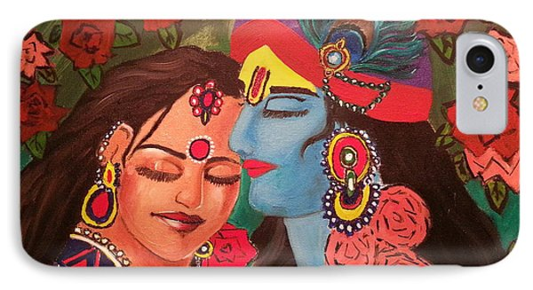 Divine Love Of Radha And Krishna IPhone Case by Bhawana Pandey