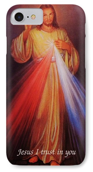Divine Mercy Big File IPhone Case by Anna Baker