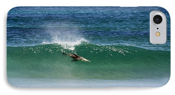 Kangaroo iPhone 7 Case - Diving Beneath The Curl by Mike Dawson