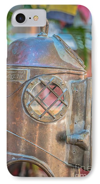 Diving Helmet Key West - Hdr Style IPhone Case by Ian Monk
