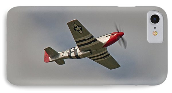 IPhone Case featuring the photograph Dixie Wing P-51 Red Nose by John Black