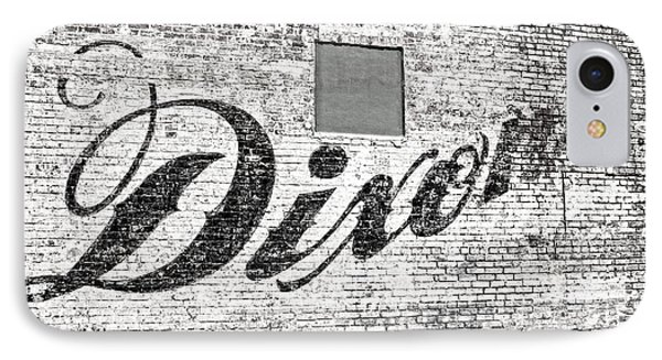 IPhone Case featuring the photograph Dixon's Wall Sign by Andy Crawford