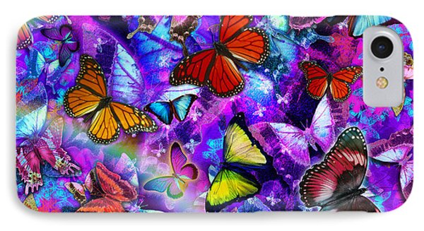 Dizzy Colored Butterfly Explosion Phone Case by Alixandra Mullins