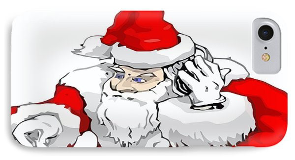 Dj Santa Claus Mixing The Christmas Party Track  IPhone Case