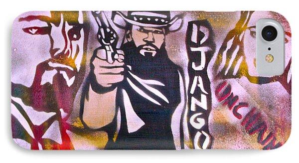 Django Blood Red Phone Case by Tony B Conscious