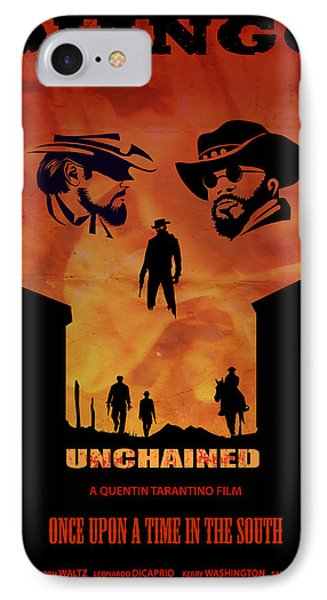 Django Unchained Alternative Poster IPhone Case by Sassan Filsoof