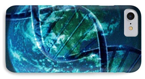 Dna Globe Phone Case by PainterArtist FIN