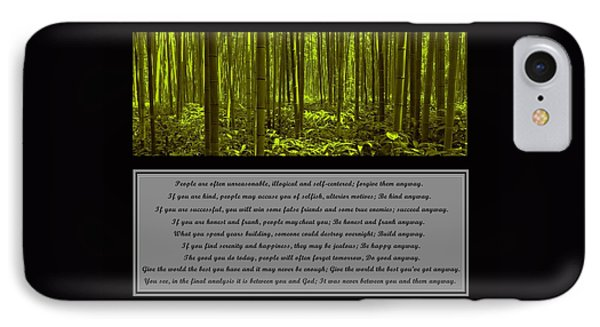 Do It Anyway Bamboo Forest IPhone Case by David Dehner