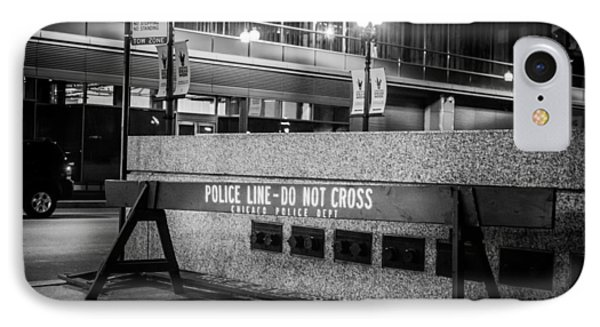 Do Not Cross IPhone Case by Melinda Ledsome
