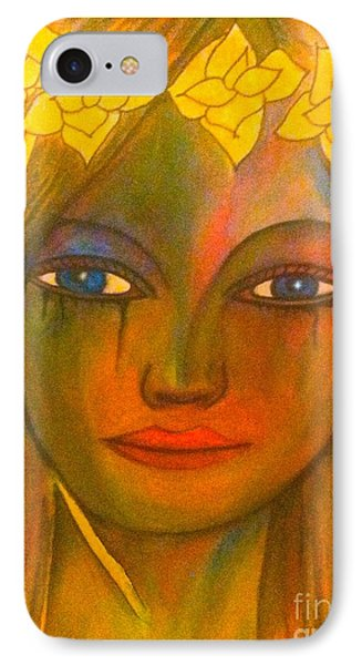 Do Not Cry Painting By Saribelle Rodriguez IPhone Case by Saribelle Rodriguez