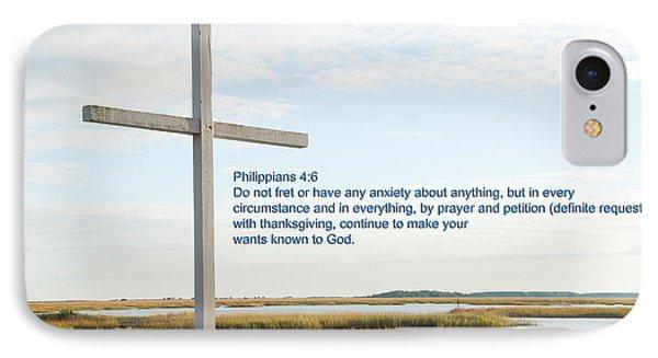 Belin Church Cross At Murrells Inlet With Bible Verse IPhone Case by Vizual Studio