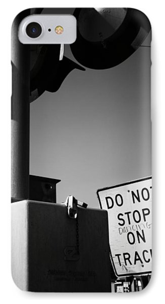 Do Not Stop Dancing On Tracks IPhone Case by Jason Politte