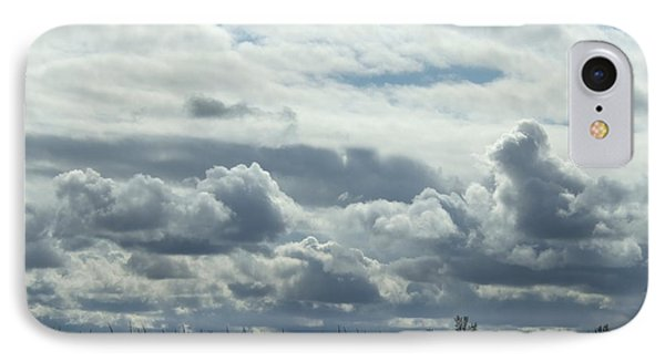 IPhone Case featuring the photograph Do You See What I See In The Clouds. by Deborah DeLaBarre