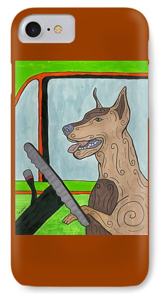 Doberman Driving IPhone Case