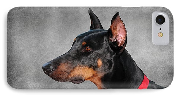Doberman Pinscher IPhone Case by Paul Ward