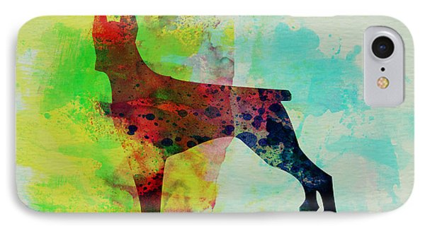 Doberman Pinscher Watercolor IPhone Case by Naxart Studio