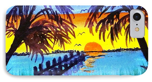 Dock At Sunset IPhone Case by Ecinja Art Works