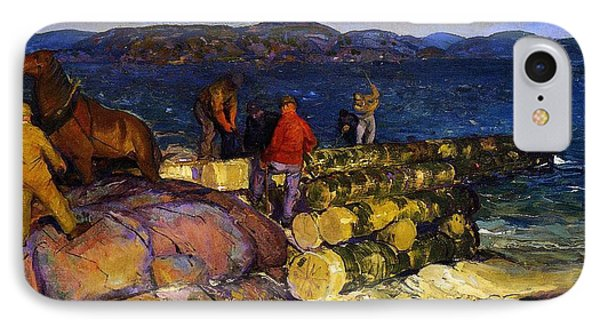 Dock Builders IPhone Case by George Wesley Bellows
