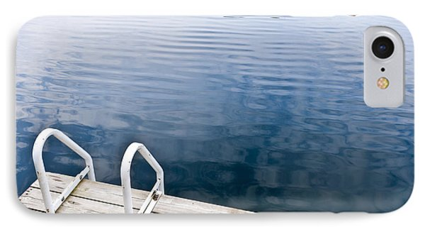 Dock On Calm Summer Lake IPhone Case by Elena Elisseeva
