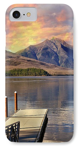 IPhone Case featuring the photograph Dock On Lake Mcdonald by Marty Koch