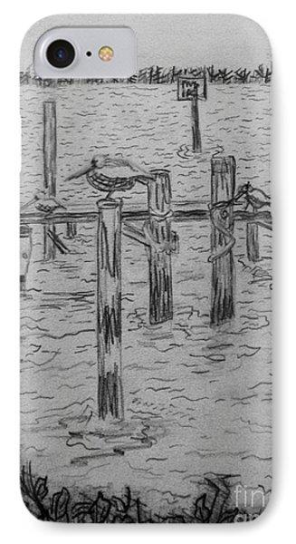 Dock Sketch Phone Case by Megan Dirsa-DuBois
