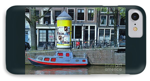IPhone Case featuring the photograph Docked In Amsterdam by Allen Beatty