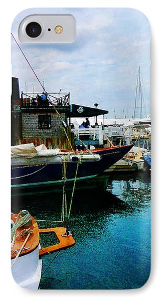 IPhone Case featuring the photograph Docked Boats In Newport Ri by Susan Savad