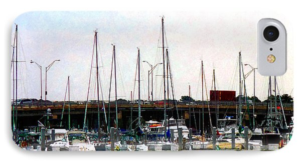 IPhone Case featuring the photograph Docked Boats Norfolk Va by Susan Savad