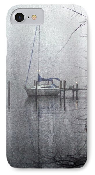 Docked In The Fog - Texture Effect Phone Case by Brian Wallace