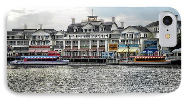 Docking At The Boardwalk Walt Disney World IPhone Case by Thomas Woolworth