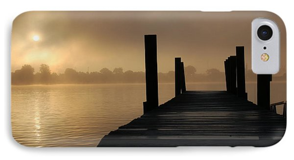 Dockside And A Good Morning IPhone Case by Randy J Heath