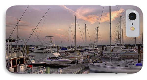 Dockside Sunset In Beaufort South Carolina IPhone Case