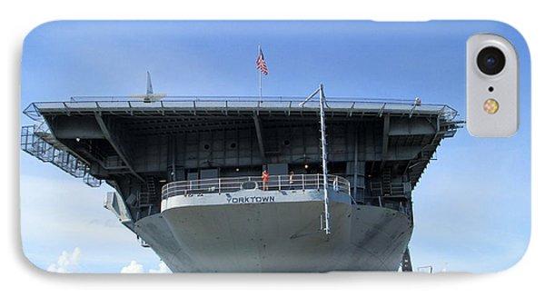 Dockside U S S Yorktown IPhone Case by Randall Weidner