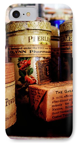 IPhone Case featuring the photograph Doctor - Liver Pills In General Store by Susan Savad