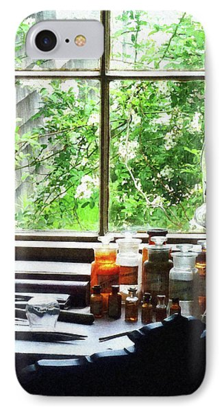IPhone Case featuring the photograph Doctor - Medicine And Hurricane Lamp by Susan Savad