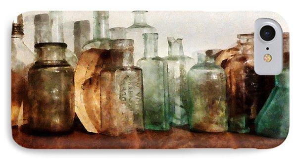 Doctor - Row Of Medicine Bottles Phone Case by Susan Savad