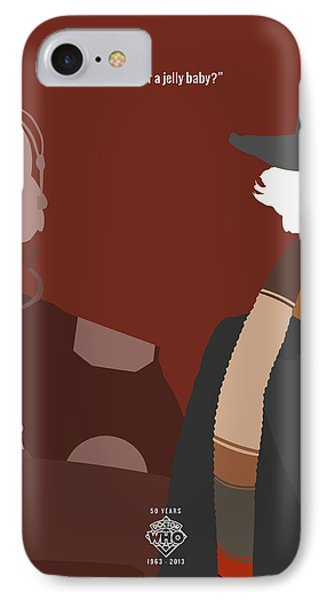 Doctor Who 50th Anniversary Poster Set Fourth Doctor Phone Case by Jeff Bell