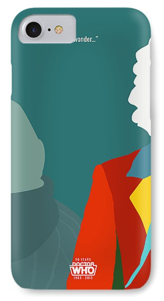 Doctor Who 50th Anniversary Poster Set Sixth Doctor Phone Case by Jeff Bell