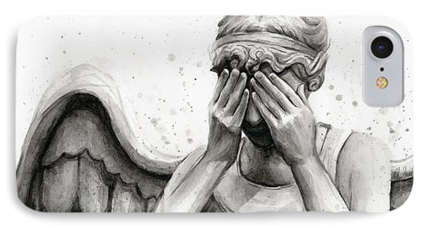 Doctor Who Weeping Angel Don't Blink IPhone Case