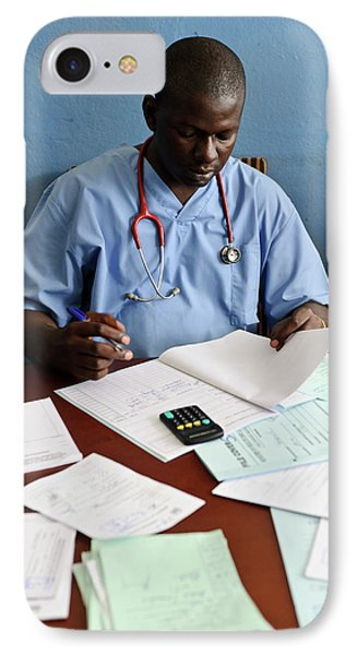 Doctor With Patient Notes IPhone Case