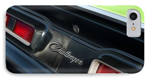 Dodge Challenger 440 Magnum Rt Taillight Emblem IPhone Case