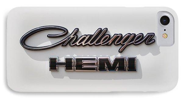 Dodge Challenger Hemi Emblem Phone Case by Jill Reger