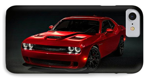 Dodge Challenger S R T Hellcat IPhone Case by Movie Poster Prints