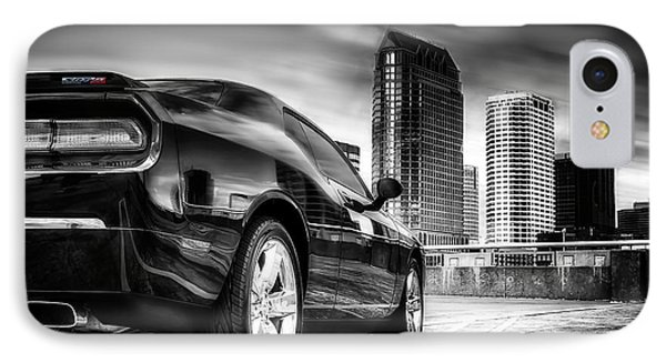 Dodge Challenger Tampa Skyline  IPhone Case by Michael White